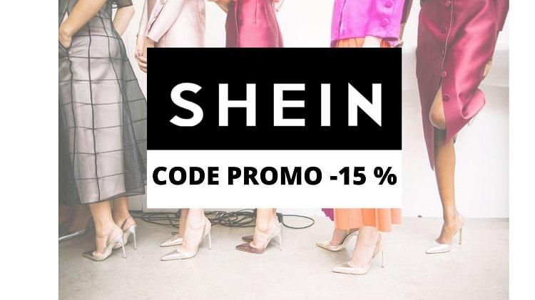 code promo shein -15%, -25%, -30%