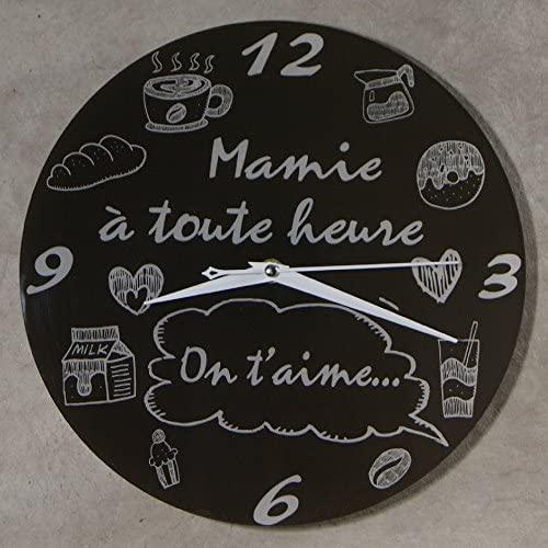 horloge Je t aime Mamie comme idee de cadeau pour Fete des grands-meres