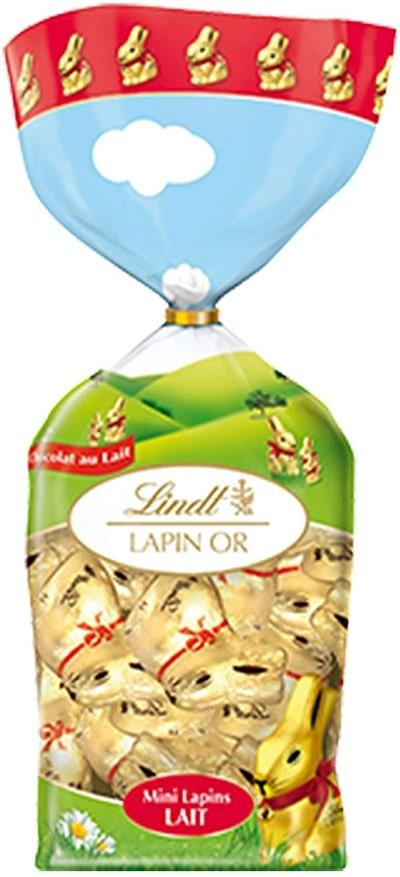 Lindt - Sachet 12 Mini Lapin Or - Chocolat au lait