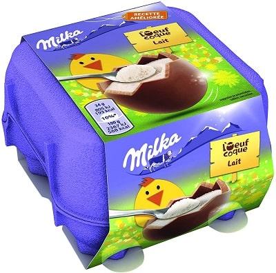 Milka - Chocolat oeufs coques lait du pays Alpin
