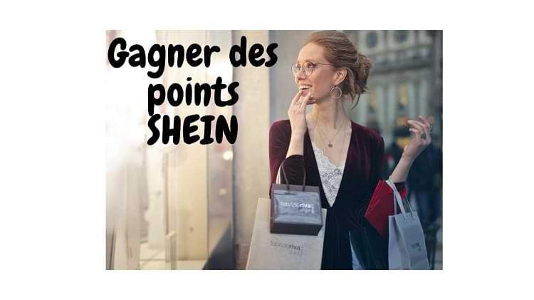 points bonus SHEIN gratuit